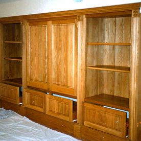 oak storage and display unit