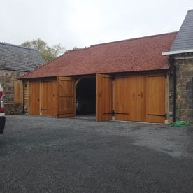 Garage and barn extension after